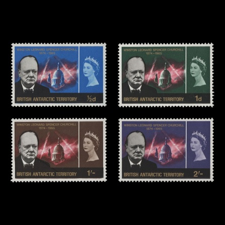 British Antarctic Territory 1966 Churchill Commemoration set